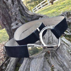 Genuine Suede Leather Belt Italy Made Adjustable